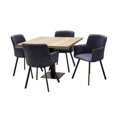 Kwadratowy stół z krzesłami...